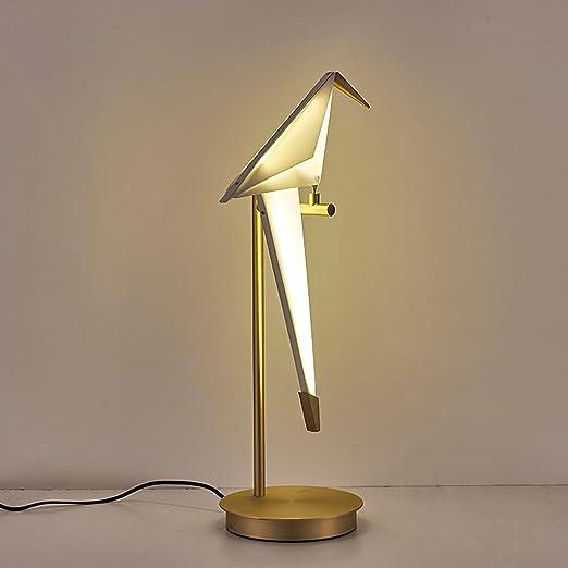 RAING Grúa de Papel de diseño nórdico/pájaro pequeño/lámpara de ...