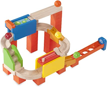 Wooden Toys for Children Colorful Building Blocks Tree Ball Run Track Baby MO 5X