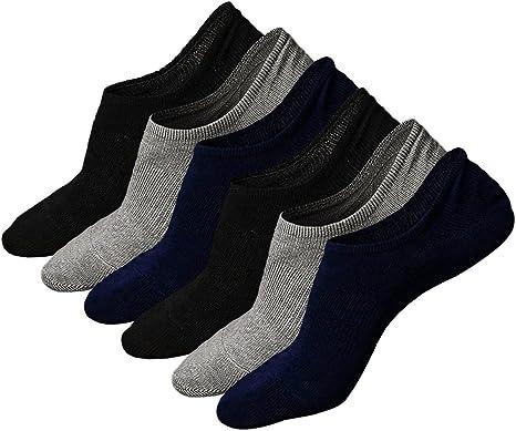 Calcetines Invisibles Hombre Calcetines Cortos de Algodon Para ...