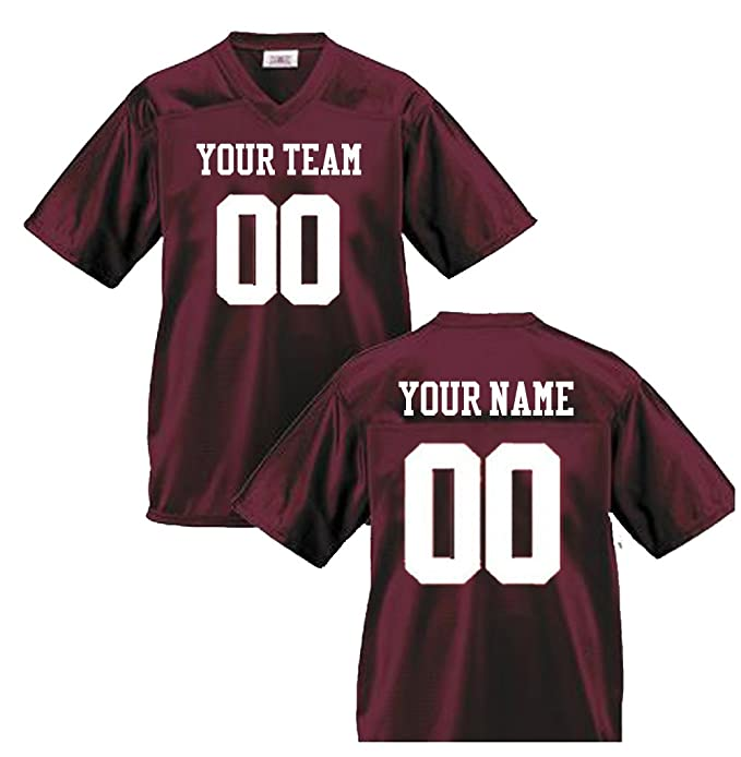 944b21ea472 OnTheField Custom Football Jersey - Any Name & Any Number: Amazon.ca:  Clothing & Accessories