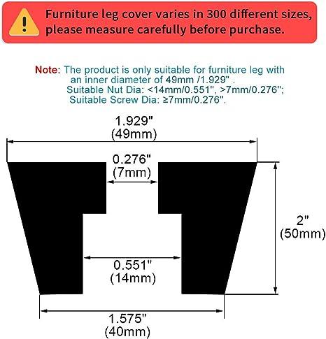 sourcing map Pies De Goma Paragolpes Para Aire Compresor De La Impresora Patas De Almohadillas Para Proteger Suelo Con Arandela Met/álica 36Piezas D31x24xH18mm