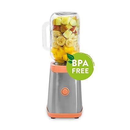 Máquina para preparar smoothies 350W, Mason Jar, mini batidora de acero/ Licuadora en