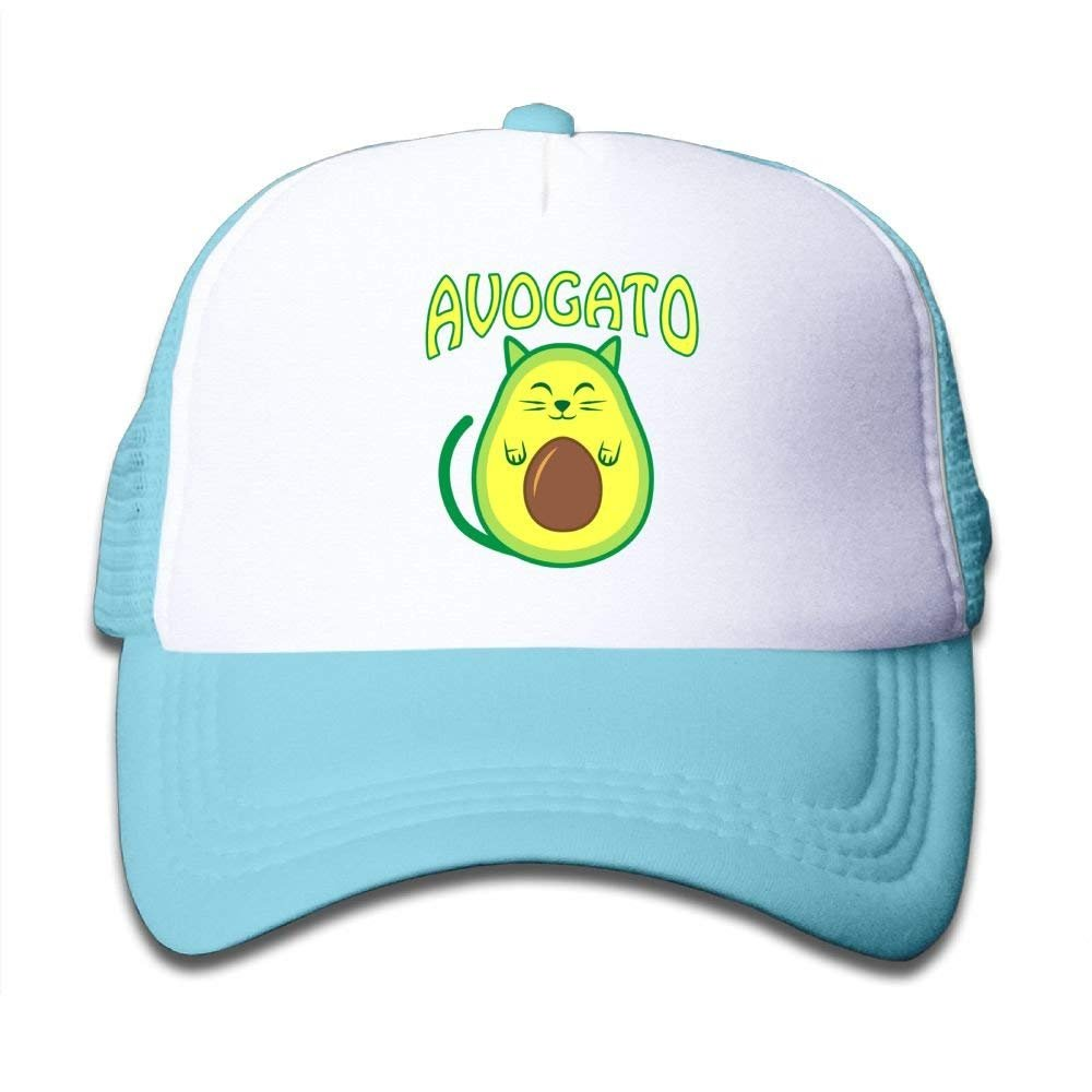 Cat Avocado Youth Toddler Mesh Hat Boy Girl Baseball Trucker Caps