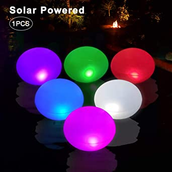 Luz Solar Exterior Flotar e Inflar UFO,Luces Solares Jardin que ...