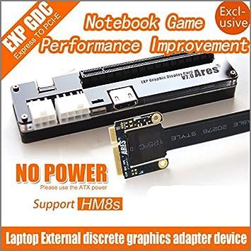 EXP GDC Externa para portátil PCI-E Tarjeta gráfica: Amazon ...