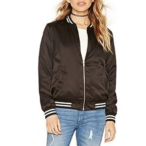 ESHOO Femme Veste/Blouson/ Jacket bomber - zip -slim - Manteau automne hiver