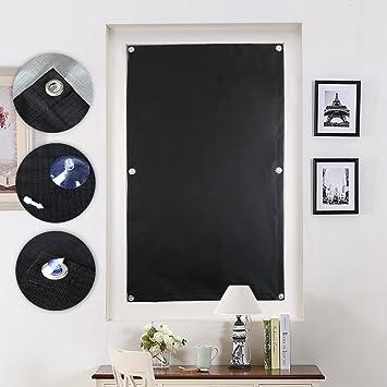 KINLO 76 x 115cm Sonnenschutz Dachfensterrollo Beschichtung für Velux Dachfenster UV Schutz Thermo Rollo mit Sucker Struktur