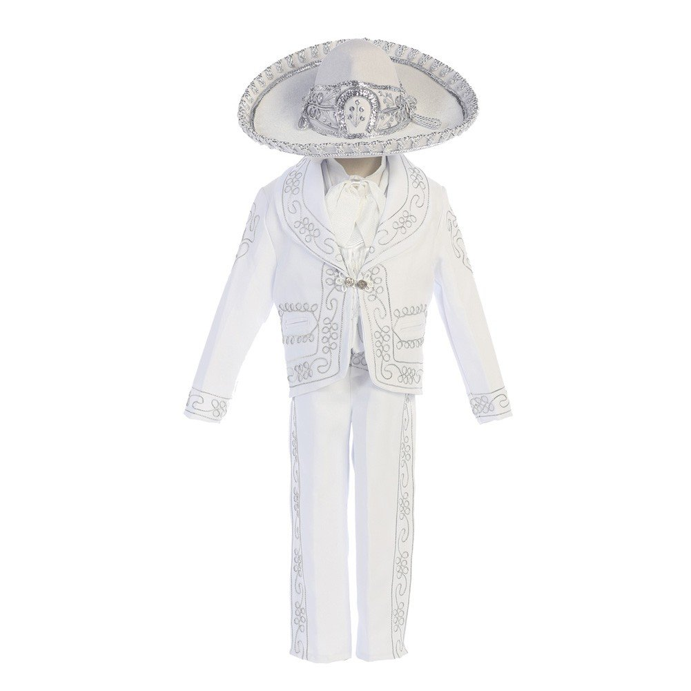 Angels Garment Little Boys WhiteOur Lady Guadalupe Charro Baptism Set 6