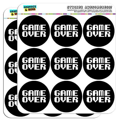 "Game Over Gamer Pixel Font Geek 2"" Planner Calendar Scrapbooking Crafting Stickers - Opaque"