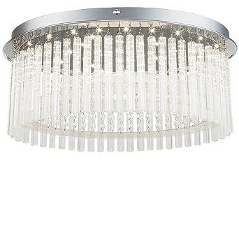 LED Design Kristall Decken Lampe Glas Strahler Schlaf Wohn Zimmer Chrom Leuchte