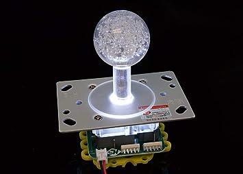 Amazon.com: Joystick LED luminoso 2-4-8-way con bola LED ...