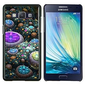 TECHCASE---Cubierta de la caja de protección para la piel dura ** Samsung Galaxy A5 ( A5000 ) 2014 Version ** --Gemas abstractas