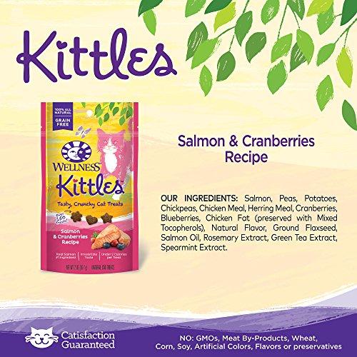 Wellness Kittles Natural Grain Free Cat Treats, Salmon & Cranberries, 2-Ounce Bag by Wellness Natural Pet Food (Image #3)
