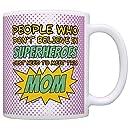 Nerd Mom People Don't Believe in Superheroes Meet this Mom Geek Mom Gift Coffee Mug Tea Cup Purple