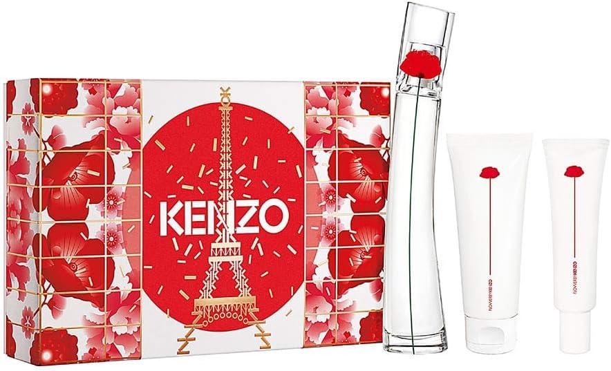 banner Kit Kenzo feminino Flower by Kenzo EDP 50ML + Loção Corporal 50ml + CREME MAOS