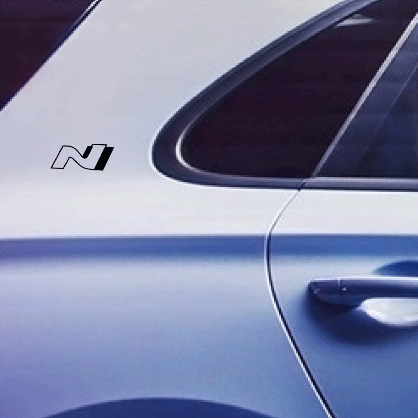 Printattack P046 Aufkleber 2er Set Logo N Sticker 7cm Performance Aufkleber Rot Weiss Schwarz Grau Schwarz Auto