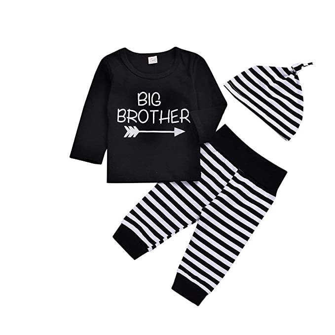 bf52469d5 Big Brother Little Brother Matching Onesie Newborn Outfits Baby Boys Set  Short Sleeve Toddler Clothes Shirts