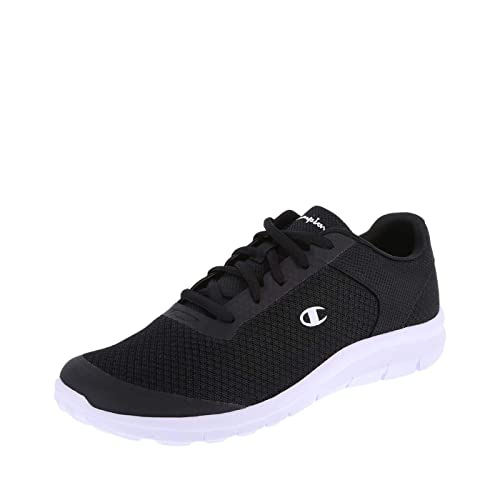 e6485e24593 Champion Women s Black White Mesh Women s Gusto Performance Cross Trainer 5  Regular