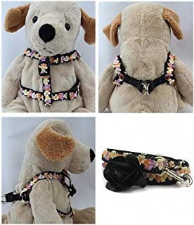 "product image for Diva-Dog 'Coco Maize' Custom 5/8"" Wide Dog Step-in Harness with Plain or Engraved Buckle, Matching Leash Available - Teacup, XS/S"