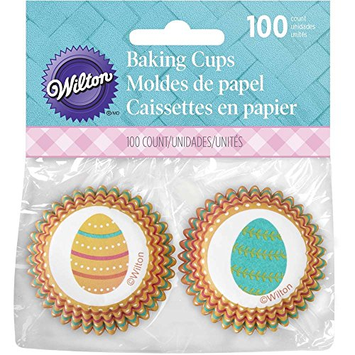 Easter Egg Candy Cups - Wilton Easter Egg Mini Cupcake Liners, 100 Count