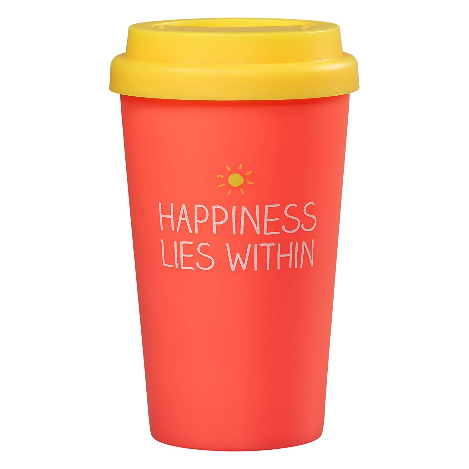 Happy Jackson 'Happiness Lies Within' Travel Mug | Coral Wild and Wolf HAP202