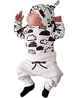 L'insieme dei vestiti del ha fissato gli infantili della maglietta della stampa neonata del ragazzo del ragazzo neonata Rawdah