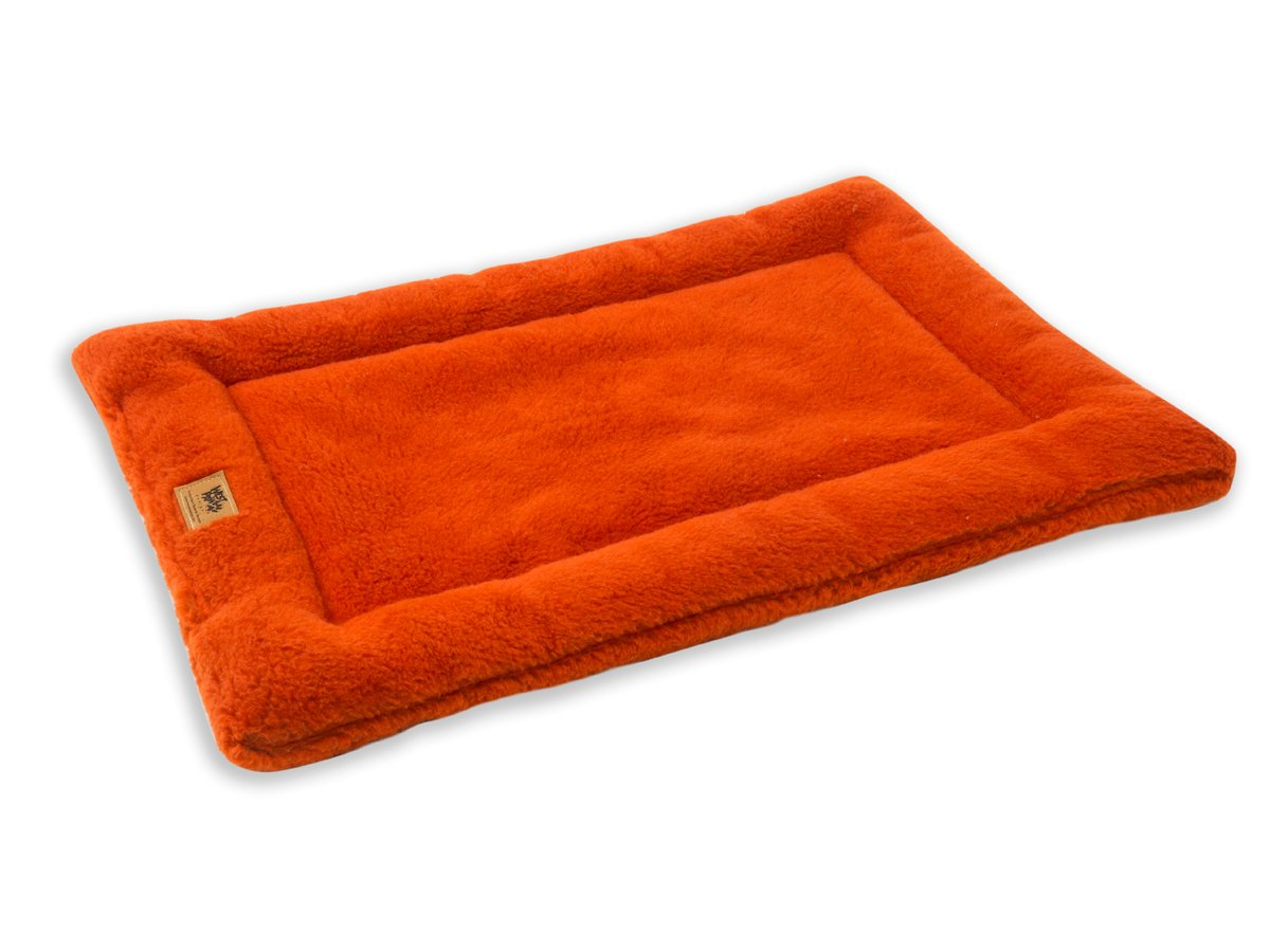West Paw Design Montana Nap with IntelliLoft Fiber and Fill Durable Lightweight Mat for Dogs and Cats, Made in USA, Pumpkin, Medium