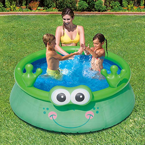Summer waves inflatable 6 foot frog character quick set - Inflatable quick set swimming pool ...