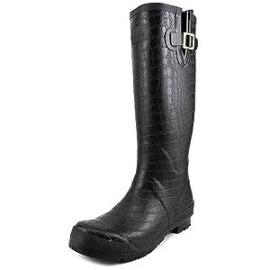 Joules Women's Crockington Rain Boot, Black, 10 M US