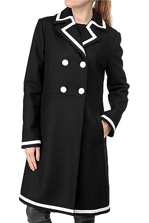 Love Moschino Damen Jacke Mantel , Farbe: Schwarz, Größe: 42