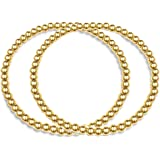 Hapuxt 14K Real Gold Plated Bead Bracelet | Inspirational Gold Bracelet for Women