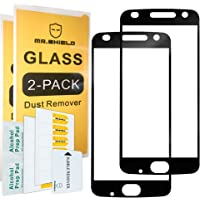 [2-PACK]-Mr Shield For Motorola MOTO Z2 Play [Japan Tempered Glass] [9H Hardness] [Full Screen Glue Cover] Screen Protector with Lifetime Replacement Warranty
