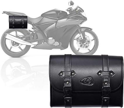Osmanthus 1 Stück Motorrad Satteltaschen Leder Seitentaschen Wasserdichte Rechts Satteltasche Motorrad Side Gepäck Werkzeugtasche Gepäcktasche Universal Sport Freizeit