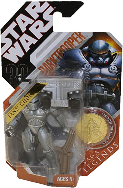 Star Wars 2007 30th Anniversary Fans Choice Saga Legends DARKTROOPER Gold Coin
