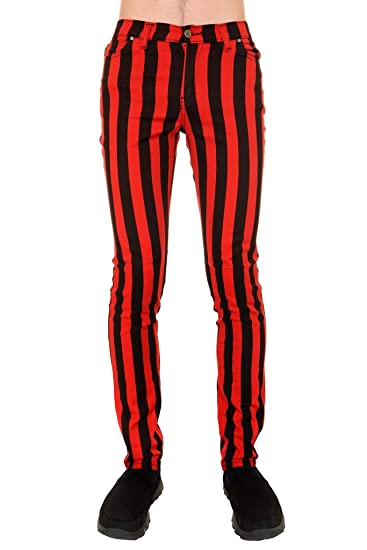 339bb40c Run & Fly Mens Indie Vintage Retro 60s 70s Mod Black Red Striped ...