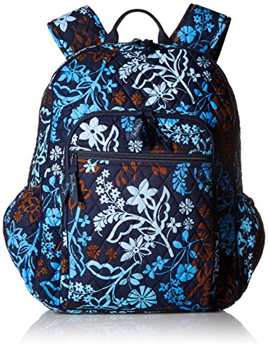 Womens Campus Tech Backpack Signature Cotton Java Floral
