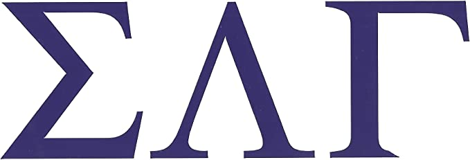 PURPLE DECAL SIGMA LAMBDA BETA Sticker of Letters for Outside Glass