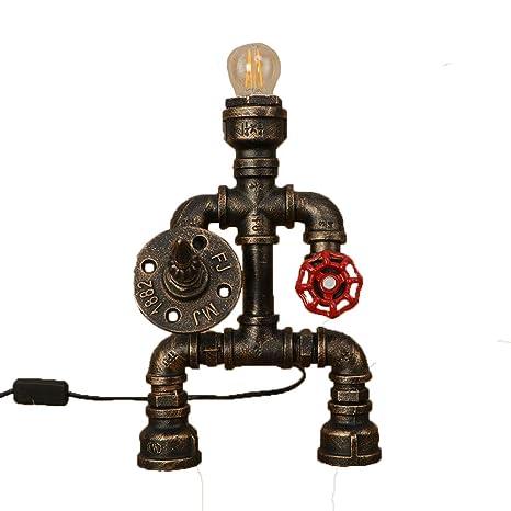Amazon.com: CZT - Lámpara de mesa de robot de tubo de agua ...