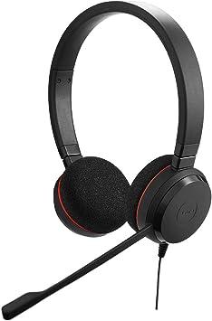 Oferta amazon: Jabra Evolve 20 - Auriculares Estéreo con Cable para VoIP Softphone, Cancelación Pasiva de Ruido, Cable USB con Unidad de Control, Negro