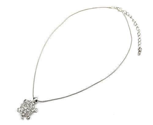 CC886-Collar con cadena y colgante de metal, diseño de tortuga ...