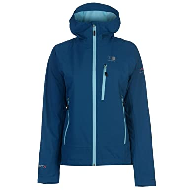 6f06b8f233f Official Karrimor Argon Waterproof Jacket Womens Coat Hiking Outdoors  Outerwear Blue UK 10 (Small)