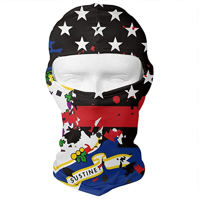WD rain Connecticut Thin Red Line Flag USA Balaclava Face Mask Headwear  Helmet Liner Gear Full Face aed90df11