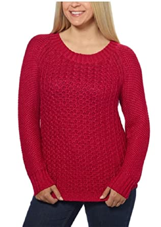Calvin Klein Jeans Ladies' Crew Neck Sweater (Persian Red) at ...