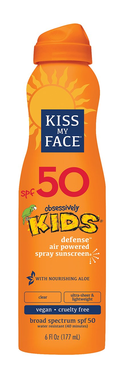 Kiss My Face Kids Defense Continuous Spray Sunscreen SPF 50 6 oz by Kiss My Face