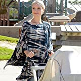 Nursing Covers by Dria 'The All-In-One Fashionable Nursing Cover, Stroller Cover, Car Seat Cover' - Made in USA from Premium Four Way Stretch and Breathable Modal Fabric (Venice Style: Copper Tie-Dye)