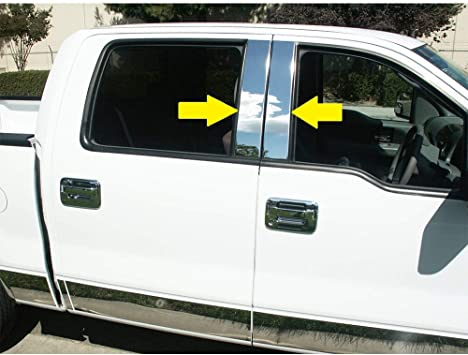 MAXMATE Compatible with 2004-2008 Ford F-150 Glossy Black Fuel Gas Door Cover