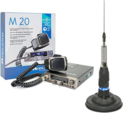 PNI Pilka CB Radio Kit Midland M20 + Antena CB Midland ml145 ...