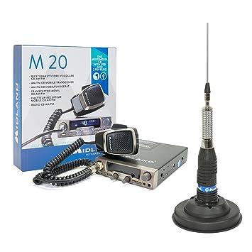 PNI CB Radio Kit Midland M20 + CB Antenna Midland: Amazon co