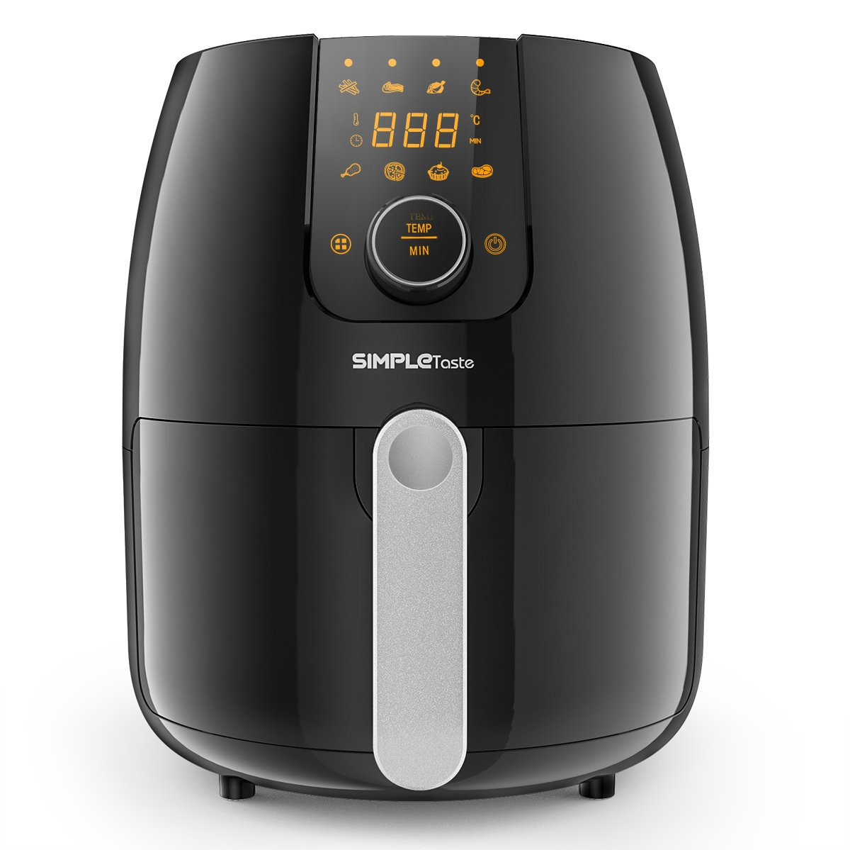 SimpleTaste Air Fryer for Delicious, Low Calories Food, Rapid Air Circulation Technology, 8 Smart Preset Programs Cooks Food Fast and Evenly, Digital Screen, 1500 Watt, 3.2QT