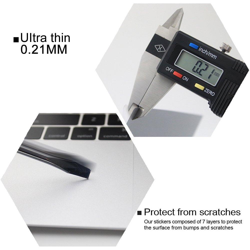 A1278 Allinside 13inch Repose-Paume Couverture avec Trackpad Protecteur Autocollant Peau Argent/éE pour Macbook Pro 13.3